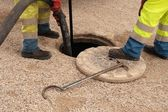 Sewer workers — Stock Photo