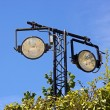 Outdoor floodlight with two lamps — Stock Photo