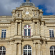 Stock Photo: Facade of Senate, Royal Lepautre clock