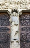 Jesus, statues of Our Lady of Paris, Notre-Dame de Paris — Stock Photo