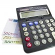 Calculator and money — Stock Photo