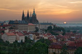 Prague Castle at sunrise — Stock Photo