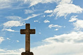 Old stony cross — Stock Photo