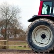 Tractor wheel — Stock Photo