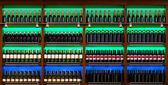 Shelf with wine bottles — Stock Photo