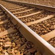 Close up of railroad track — Stockfoto