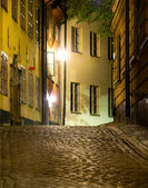 Street in Stockholm in the evening — Stock Photo