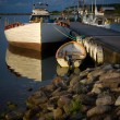Small boat harbor — Stock Photo
