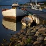 Small boat harbor — Stock Photo