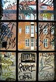 Detail of graffiti painted — Stock Photo