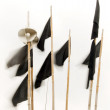Stock Photo: Black flags