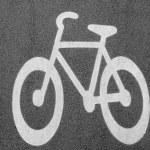 Wihite bike — Stock Photo