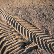 Tire tracks - Stock Photo