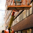 Stock Photo: Elevated crane platform