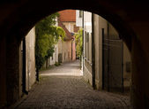 Old street in Visby — 图库照片