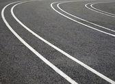Lanes on asphalt — Stock Photo