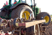 Plow on tractor — Stock Photo