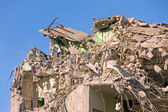 Zbourána budova — Stock fotografie
