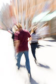 Blurred motion — Stockfoto