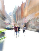 Blurred in the city — Stock Photo