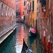 Stock Photo: Canal with gondola