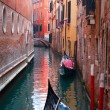 Canal with gondola — Stock Photo #8302100