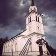 Wooden country church - Stock Photo