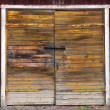 Wooden double door — Stock Photo