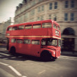 Stock Photo: Vintage double decker bus