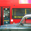 London cab and double decker bus — Stock Photo