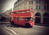Vintage double decker bus — Stock Photo