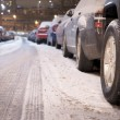 Stock Photo: Parked cars in winter