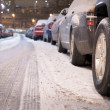 Parked cars in winter — Stock Photo #8775974