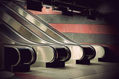 Empty escalators — Stock Photo