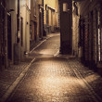 Narrow street in Stockholm — Stock Photo #8812237