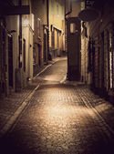 Narrow street in Stockholm — Stock Photo