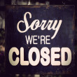 Vintage closed sign — Stock Photo #8850923