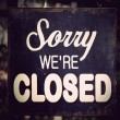 Stock Photo: Vintage closed sign