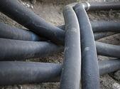 Пластмассовые трубы — Стоковое фото