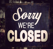 Vintage closed sign — Stock Photo