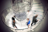 Transparent spiral staircase — Stock Photo