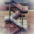 Abstract glass staircase — Stock Photo