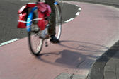 Blurred bicycle — Stock Photo