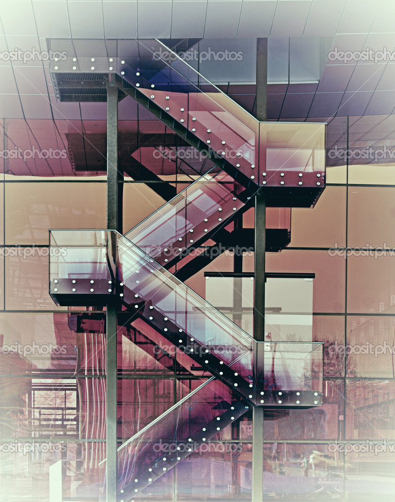 Abstrakt glas trappa — stockfotografi © pinkbadger #9928431
