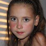 Closeup portrait of a little girl — Stock Photo
