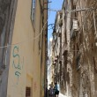Small street in Cagliari Sardinia,Italy - Stock Photo