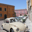 Car parked in the historic part of city.Sardinia, Cagliari. — Stock Photo