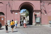 Gate pass to the archaeological museum.Cagliari, Sardinia. — Stock Photo