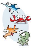 Marine Karikaturen — Stockvektor