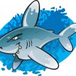 Royalty-Free Stock Vector Image: Cartoon Oceanic White tip Shark
